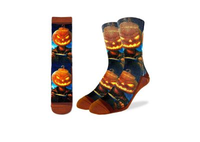 Evil Pumpkin Socks