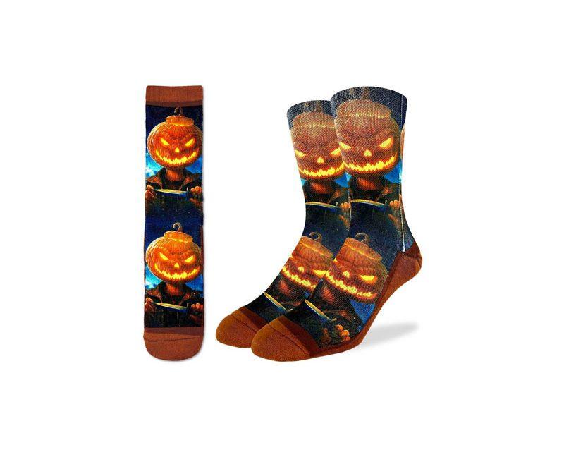 Evil Pumpkin Socks