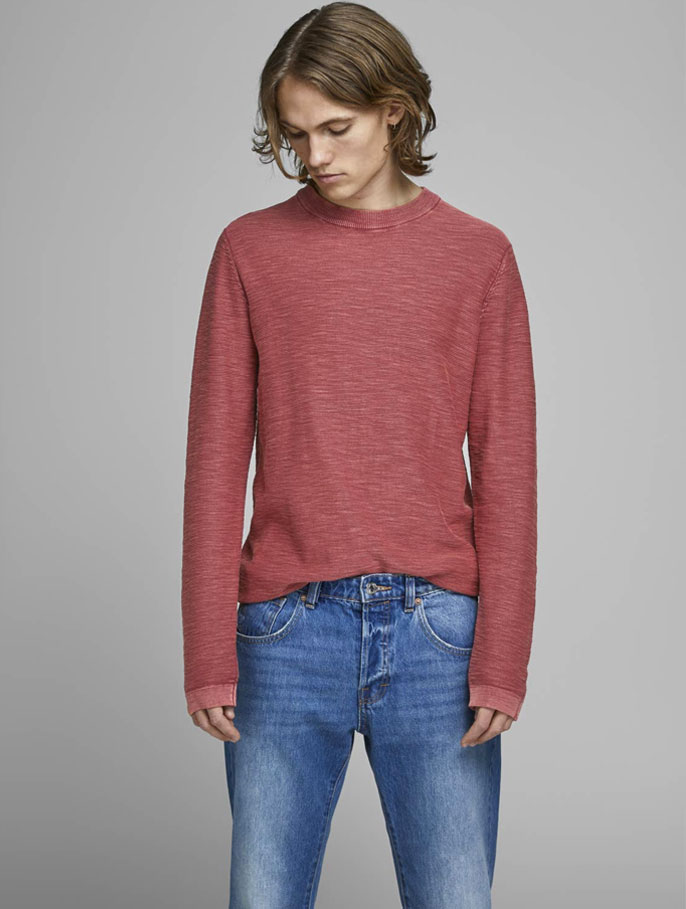 red jack and jones long sleeve shirt