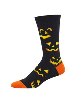 Pumpkin Carving Socks