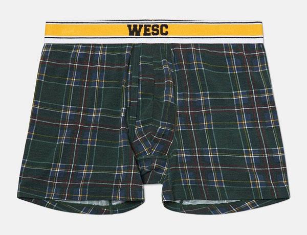 WESC Benjamin Plaid Boxers