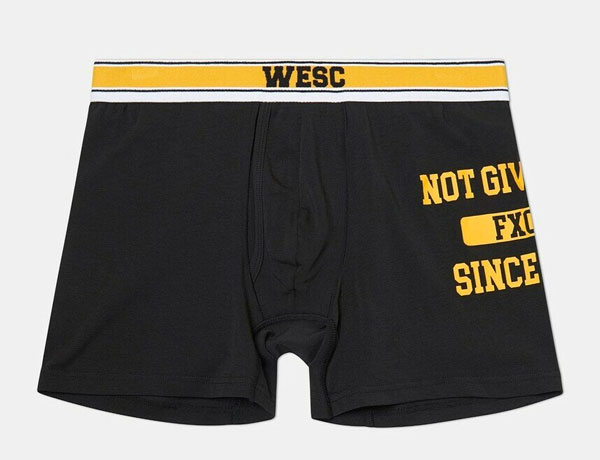 WESC Not Giving Boxer black, yellow
